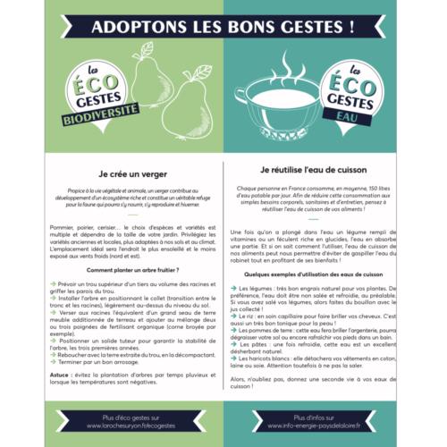 Les bons gestes eco: créer un verger et réutiliser l'eau de cuisson