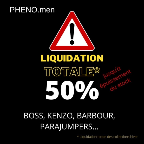 Pheno.men : Liquidation totale des collections hiver