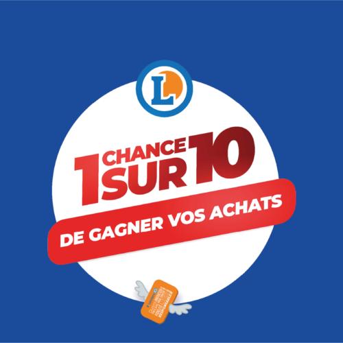 1 CHANCE SUR 10 de gagner votre chariot dans vos E.Leclerc de la Roche !