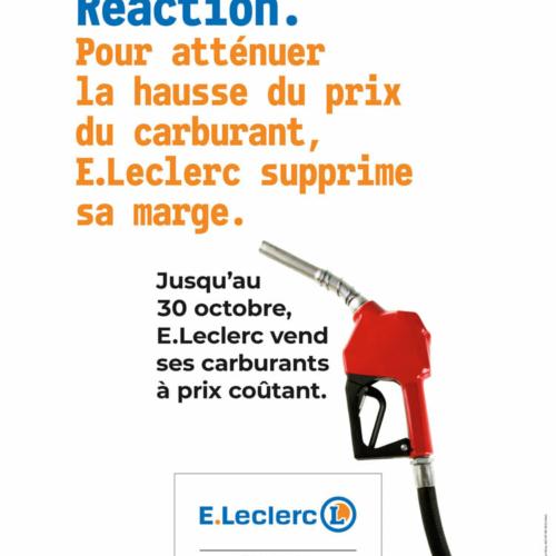 Carburant à prix coûtant- Leclerc